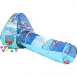 Домик Bony с тоннелем с шариками Треугольник Океан LI503 85х85х100 D-48х180 100 шаров
