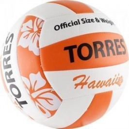 Мяч волейбольный любительский для пляжа Torres Hawaii арт. V30075B, размер 5, бело-оранжево-черный
