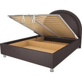 Кровать OrthoSleep Аляска шоколад механизм и ящик 140х200