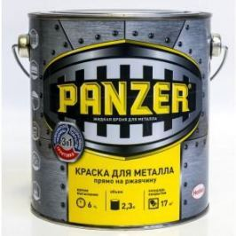 Краска по металлу PANZER ГЛАДКАЯ зеленый мох 2.3л. ral 6005