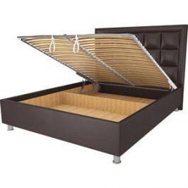 Кровать OrthoSleep Альба шоколад механизм и ящик 90х200
