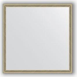 Зеркало в багетной раме Evoform Definite 58x58 см, витое серебро 28 мм (BY 0605)