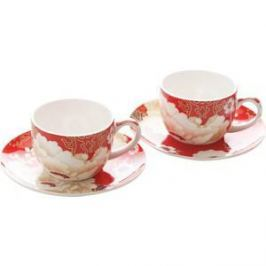 Набор: 2 чашки с блюдцами Maxwell & Williams Кимоно красный (MW637-PK0403)