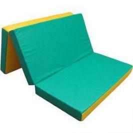 Мат КМС № 4 (100 х 150 х 10) складной зелёно/жёлтый