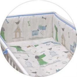 Постельное белье Ceba Baby 3 пр. My Dog blue green Lux принт W-800-073-003-1 (Э0000016406)