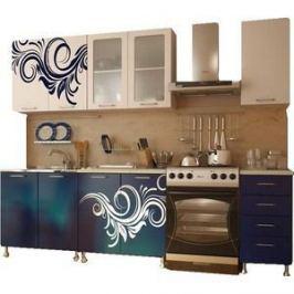 Кухня Миф Индиго, 2.0м с фотопечатью