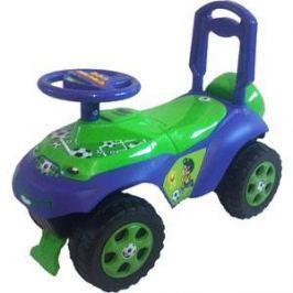Машинка для катания DOLONI Автошка с музыкальным рулем зеленый/синий (0118/02)