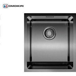 Кухонная мойка Omoikiri Notoro 39-GM, 390х440, вороненая сталь (4993079)