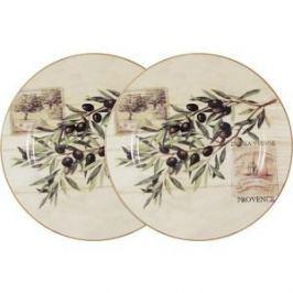 Набор из 2-х обеденных тарелок LF Ceramic Оливки (LF-120E2257-O-AL)