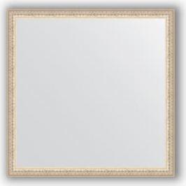 Зеркало в багетной раме Evoform Definite 71x71 см, мельхиор 41 мм (BY 1020)