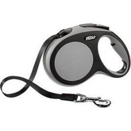 Рулетка Flexi New Comfort L лента 8м черный/серый для собак до 50кг