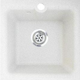 Мойка кухонная GranFest гранит 420x420 (Gf-P420 белая)