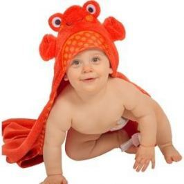 Zoocchini Полотенце с капюшоном для малышей (0-18 мес.) Крабик Чарли (Charlie the Crab) (00559)