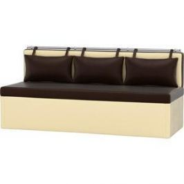 Кухонный диван АртМебель Метро эко-кожа коричнево-бежевый