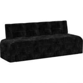 Кухонный диван АртМебель Люксор микровельвет (черный)