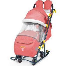 Детские санки-коляска Ника Детям 7-3 (красный джинс) (1373463/1373462)