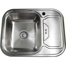 Кухонная мойка Pegas 63х49 0,6 правая, шлифованный глянцевый, (6349W R ст)