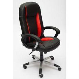 Кресло TetChair BRINDISI кож/зам, черный/красный/черный перфорированный, 36-6/36-161/36-6/06