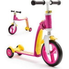 Scoot and Ride Самокат-беговел трансформер Highway Baby Plus Желто-розовый (950888/цв 1152736)