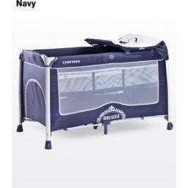 Манеж-кровать Caretero Deluxe Navy (синий)