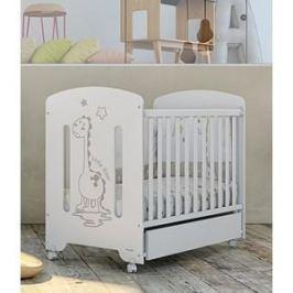 Кроватка Micuna Dinus Plus 120*60 white/grey рисунок