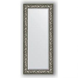 Зеркало с фацетом в багетной раме поворотное Evoform Exclusive 64x149 см, византия серебро 99 мм (BY 3546)