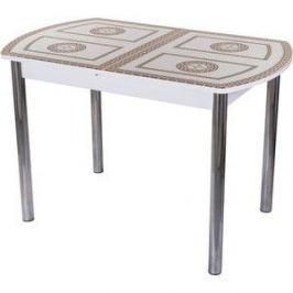 Стол со стеклом Домотека Гамма ПО (-1 БЛ ст-71 02)