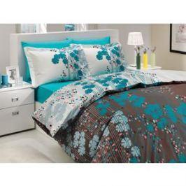Комплект постельного белья Hobby home collection 1,5 сп, поплин, Ventura, бирюзовый (1501000192)