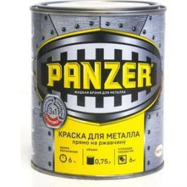 Краска по металлу PANZER ГЛАДКАЯ желтая 0.75л. ral 1003