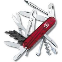 Нож перочинный Victorinox CyberTool 34 1.7725.T (91мм, 34 функции полупрозрачный красный)