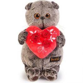 Мягкая игрушка Budi Basa Басик с красным сердечком 22см (Ks22-060)
