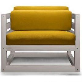 Кресло Anderson Магнус бел дуб-желтый вельвет.