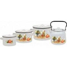 Наборы посуды 4 предмета СтальЭмаль Дачная (1с142/1)