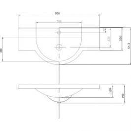 Раковина мебельная Акватон Лацио 95 см (1A702031LC010)