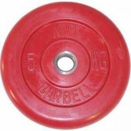 Диск обрезиненный MB Barbell 26 мм 5 кг красный
