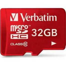 Verbatim microSD 32GB Class 10 UHS-I (SD адаптер) (44044)