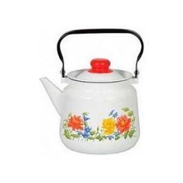 Чайник эмалированный 3.5 л СтальЭмаль Цветочная (1с26с)