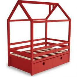 Кровать Anderson Дрима BOX красная 90x190