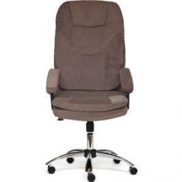 Кресло TetChair SOFTY хром ткань, коричневый смоки браун