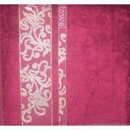 Набор полотенец 6 штук Brielle Bamboo Jacquard 30x50 burgundy бургунди (1211-85650)