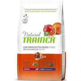 Сухой корм Trainer Natural Medium Adult with Dry-Cured Ham and Rice с сыровяленой ветчиной и рисом для взрослых собак средних пород 12кг