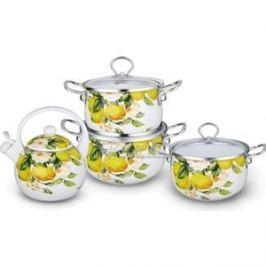 Набор эмалированной посуды 7 предметов Kelli (KL-4446)