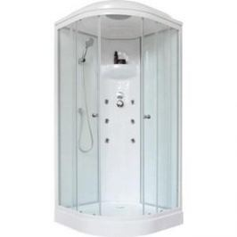 Душевая кабина Royal Bath 100х100х217 стекло белое/прозрачное (RB100HK3-WT)