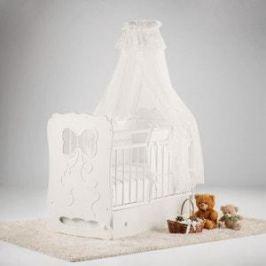 Островок уюта Кровать детская Мальвина (айвори) маятник поперечный с ящиком