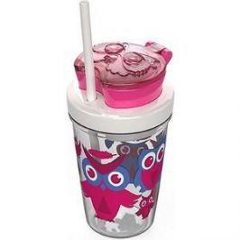 Детский стакан для воды с трубочкой 0.35 л Contigo Snack tumbler (contigo0626) розовый