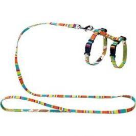 Шлейка Hunter Smart Harness with Leash Set Stripes нейлон разноцветная для кошек и собак