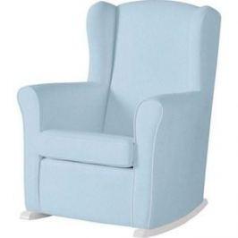 Кресло-качалка Micuna Wing/Nanny white/blue искусственная кожа (Э0000017346)