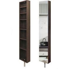 Поворотный зеркальный шкаф Shelf.On Зум Шелф Эко венге