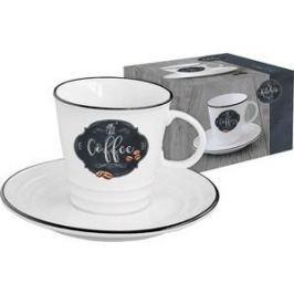 Чашка с блюдцем Easy Life (R2S) Кухня в стиле Ретро (EL-R1601_KIBC)