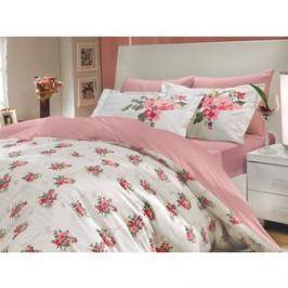 Комплект постельного белья Hobby home collection Семейный, поплин, Paris Spring, розовый (1501000146)